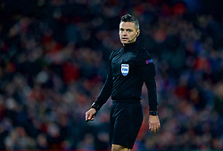 LIVERPOOL, ENGLAND - Tuesday, December 11, 2018: Referee Damir Skomina during the UEFA Champions League Group C match between Liverpool FC and SSC Napoli at Anfield. (Pic by David Rawcliffe/Propaganda)