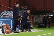 The West Ham bench   during the leasing.com EFL Trophy match between Cheltenham Town and U21 West Ham United at Jonny Rocks Stadium, Cheltenham, England on 8 October 2019.