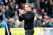 AFC Wimbledon manager Neal Ardley clapping during the EFL Sky Bet League 1 match between AFC Wimbledon and Rochdale at the Cherry Red Records Stadium, Kingston, England on 30 September 2017. Photo by Matthew Redman.