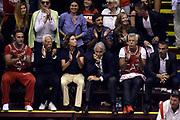 DESCRIZIONE : Campionato 2013/14 Finale Gara 7 Olimpia EA7 Emporio Armani Milano - Montepaschi Mens Sana Siena Scudetto<br /> GIOCATORE : Giorgio Armani Giovanni Malago'<br /> CATEGORIA : Tifosi VIP<br /> SQUADRA : Olimpia EA7 Emporio Armani Milano<br /> EVENTO : LegaBasket Serie A Beko Playoff 2013/2014<br /> GARA : Olimpia EA7 Emporio Armani Milano - Montepaschi Mens Sana Siena<br /> DATA : 27/06/2014<br /> SPORT : Pallacanestro <br /> AUTORE : Agenzia Ciamillo-Castoria /GiulioCiamillo<br /> Galleria : LegaBasket Serie A Beko Playoff 2013/2014<br /> FOTONOTIZIA : Campionato 2013/14 Finale GARA 7 Olimpia EA7 Emporio Armani Milano - Montepaschi Mens Sana Siena<br /> Predefinita :