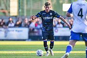 Leeds United midfielder Mateusz Bogusz (7) in action during the Pre-Season Friendly match between Guiseley  and Leeds United at Nethermoor Park, Guiseley, United Kingdom on 11 July 2019.
