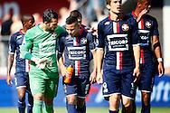 23-08-2015 VOETBAL:AZ-WILLEM II:ALKMAAR <br /> Eredivisie 2015-2016 <br /> <br /> Kostas Lamprou van Willem II en Justin Mathieu van Willem II teleurgesteld na afloop van de wedstrijd <br /> <br /> Foto: Geert van Erven