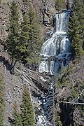 USA, Wyoming, Waterfall, Undine Falls, Yellowstone National Park