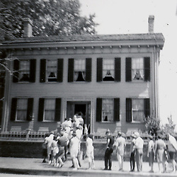 May 1967:  Abraham Lincoln's home in Springfield Illinois..Image taken by a pre-teen boy during the year listed in caption,  scanned and adjusted in PhotoShop.  Image was shot with a Kodak Hawkeye 126 Instamatic camera.