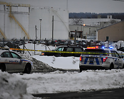 Police respond to a crime scene where a reported shooting occurred involving police at the intersections of Columbia and North Plymouth Street Feb. 23, 2015 in Allentown, Pa.