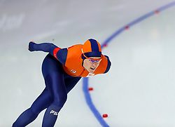 February 12, 2018 - Gangneung, South Korea - Ireen Wust of Netherlands wins the Gold medal in the Women's 1500M Speed Skating at the PyeongChang 2018 Winter Olympic Games at Gangneung Oval on Monday February 12, 2018. (Credit Image: © Paul Kitagaki Jr. via ZUMA Wire)