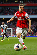 Nacho Monreal of Arsenal during the Barclays Premier League match at the Emirates Stadium, London<br /> Picture by David Horn/Focus Images Ltd +44 7545 970036<br /> 28/04/2014