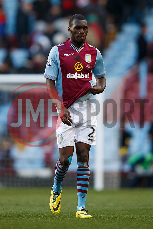 Aston Villa Forward Christian Benteke (BEL) looks dejected after a 1-4 loss - Photo mandatory by-line: Rogan Thomson/JMP - 07966 386802 - 23/03/2014 - SPORT - FOOTBALL - Villa Park, Birmingham - Aston Villa v Stoke City - Barclays Premier League.