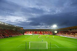 LLANELLI, WALES - Wednesday, August 15, 2012: A general view of the Parc y Scarlets Stadium as Wales tale on Bosnia-Herzegovina during an international friendly match. (Pic by David Rawcliffe/Propaganda)