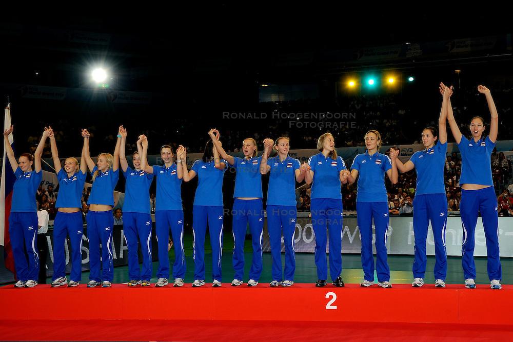 23-08-2009 VOLLEYBAL: WGP FINALS CEREMONY: TOKYO <br /> Rusland wint het zilver op de World Grand Prix 2009 <br /> ©2009-WWW.FOTOHOOGENDOORN.NL