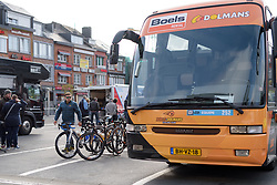 Boels Dolmans prepare for Liege-Bastogne-Liege Femmes - a 135.5 km road race between Bastogne and Ans on April 23 2017 in Liège, Belgium.