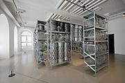 Kassel, Germany. Opening days of documenta14.<br /> Fridericianum.<br /> Kendell Geers: Acropolis Redux (the Director's Cut), 2004