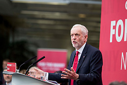© Licensed to London News Pictures. 16/5/17  BRADFORD  , UK.  <br /> Labour's General Election Manifesto launch 2017.  JEREMY CORBYN , Leader of the Labour Party, launches the party's manifesto at an event in Bradford today (Tuesday 16th May 2017). He was joined by members of the Shadow Cabinet at the launch at University of Bradford, Richmond Building, Richmond Road, Bradford.<br />   <br /> Photo credit: CHRIS BULL/LNP