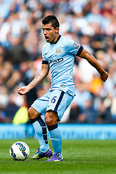 Sergio Aguero of Manchester City in action - Photo mandatory by-line: Rogan Thomson/JMP - 07966 386802 - 30/08/2014 - SPORT - FOOTBALL - Manchester, England - Etihad Stadium - Manchester City v Stoke City - Barclays Premier League.
