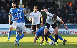 Paul Rooney of Dover Athletic battles for the ball with Frazer Blake-Tracy of Peterborough United - Mandatory by-line: Joe Dent/JMP - 01/12/2019 - FOOTBALL - Weston Homes Stadium - Peterborough, England - Peterborough United v Dover Athletic - Emirates FA Cup second round
