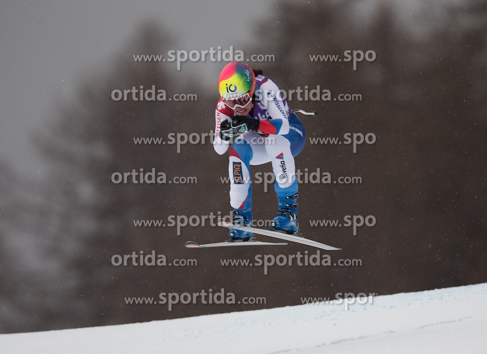 16.01.2015, Olympia delle Tofane, Cortina d Ampezzo, ITA, FIS Weltcup Ski Alpin, Abfahrt, Damen, im Bild Dominique Gisin (SUI) // Dominique Gisin of Switzerland in action during the ladies Downhill of the Cortina FIS Ski Alpine World Cup at the Olympia delle Tofane course in Cortina d Ampezzo, Italy on 2015/01/16. EXPA Pictures © 2015, PhotoCredit: EXPA/ Johann Groder