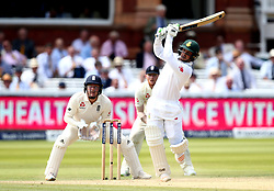 Quentin de Kock of South Africa hits an attacking shot - Mandatory by-line: Robbie Stephenson/JMP - 08/07/2017 - CRICKET - Lords - London, United Kingdom - England v South Africa - Investec Test Series