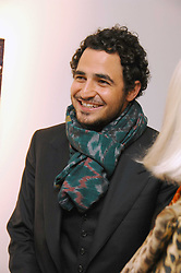 ZAC POSEN at an exhibition of paintings by artist Rene Richard at the Scream Gallery, Bruton Street, London on 3rd April 2008.<br />