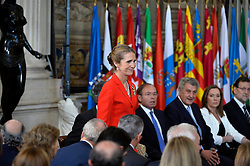 18.06.2014, Royal Palace, Madrid, ESP, Abdankung König Juan Carlos, Unterzeihnung der Abdankungspapiere, im Bild Princess Elena of Spain // during the official abdication ceremony at the Royal Palace in Madrid, Spain on 2014/06/18. EXPA Pictures © 2014, PhotoCredit: EXPA/ Alterphotos/ Pool<br /> <br /> *****ATTENTION - OUT of ESP, SUI*****