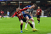 Harry Wilson (22) of AFC Bournemouth battles for possession with Adam Webster (15) of Brighton and Hove Albion during the Premier League match between Bournemouth and Brighton and Hove Albion at the Vitality Stadium, Bournemouth, England on 21 January 2020.