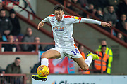 Luton Town forward Harry Cornick gets the ball under control during the EFL Sky Bet League 1 match between Scunthorpe United and Luton Town at Glanford Park, Scunthorpe, England on 26 December 2018.