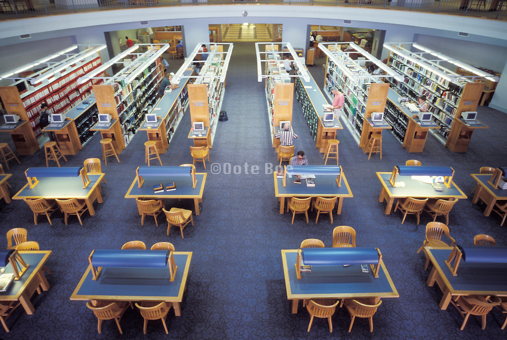 reading room of a public library