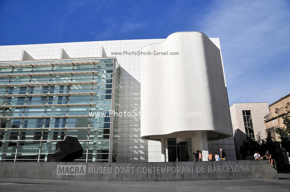 Exterior of the Barcelona Museum of Contemporary Art (MACBA), Barcelona, Catalonia, Spain