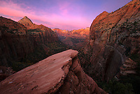 Morning twilight, Zion National Park, USA.