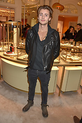 Elijah Rowen at the reopening of the Cartier Boutique, New Bond Street, London, England. 31 January 2019. <br /> <br /> ***For fees please contact us prior to publication***