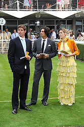 Left to right, polo player MALCOLM BORWICK, NACHO FIGUERAS and DELFINA BLAQUIER at the 3rd day of the 2008 Glorious Goodwood racing festival at Goodwood Racecourse, West Sussex on 31st July 2008.<br /> <br /> NON EXCLUSIVE - WORLD RIGHTS
