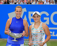 Sieger PETRA KVITOVA (CZE) mit Pokal und Finalist  ASHLEIGH BARTY (AUS), Siegerehrung, Aegon Classic Birmingham 2017<br /> <br /> Tennis - Aegon Classic Birmingham 2017 - WTA -  The Edgbaston Priory Club - Birmingham -  - Great Britain  - 25 June 2017. <br /> &copy; Juergen Hasenkopf