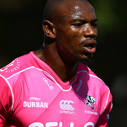DURBAN, SOUTH AFRICA - APRIL 17: Makazole Mapimpi of the Cell C Sharks during the Cell C Sharks training session at Jonsson Kings Park on April 17, 2018 in Durban, South Africa. (Photo by Steve Haag/Gallo Images)
