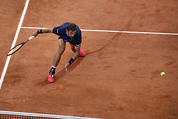 May 30, 2019 - Paris, France - Switzerland's Henri Laaksonen plays against Serbia's Novak Djokovic during their men's singles second round match on day five of The Roland Garros 2019 French Open tennis tournament in Paris on May 30, 2019. (Credit Image: © Ibrahim Ezzat/NurPhoto via ZUMA Press)