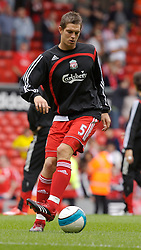 Liverpool, England - Saturday, September 1, 2007: Liverpool's Daniel Agger before the Premiership match against Derby County at Anfield. (Photo by David Rawcliffe/Propaganda)