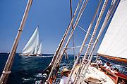 Mariette, Tiziana at the Antigua Classic Yacht Regatta
