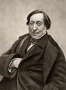 Gioachino (Antonio) Rossini (1792-1868) Italian composer. From a photograph by Nadar, pseudonymn of Gaspard-Felix Tournachon (1820-1910).