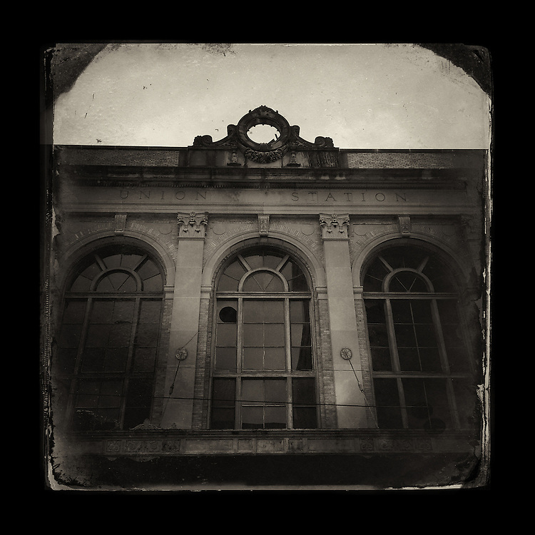 "Charles Blackburn image of abandoned Union Station in Texarkana, AR. 5x5"" print."