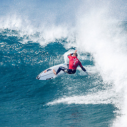 3X World Champion Mick Fanning of Australia advanced to the Quarterfinals after winning Heat 2 of Round Five at the Rip Curl Pro Bells Beach.