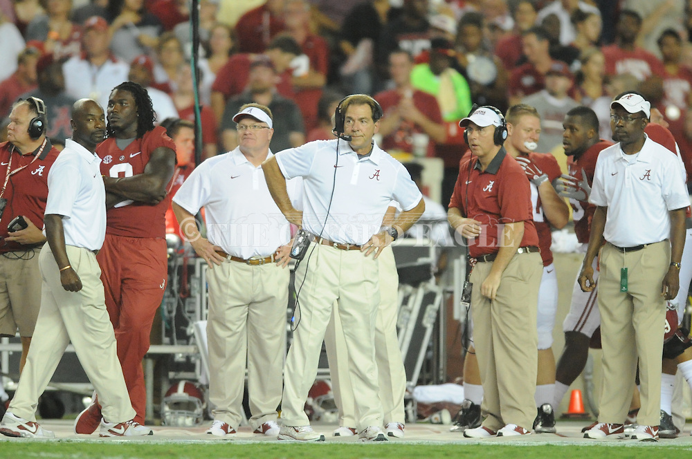Alabama Crimson Tide head coach Nick Saban vs. Ole Miss Rebels at Bryant-Denny Stadium in Tuscaloosa, Ala. on Saturday, September 19, 2015. Ole Miss won 43-37.