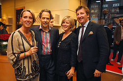 Left to right, ANNOUSHKA AYTON, the EARL & COUNTESS OF MARCH and JOHN AYTON a party hosted by Links of London to celebrate the forthcoming Glorious Goodwood racing event held at links, Sloane Square, London on 25th July 2007.<br />