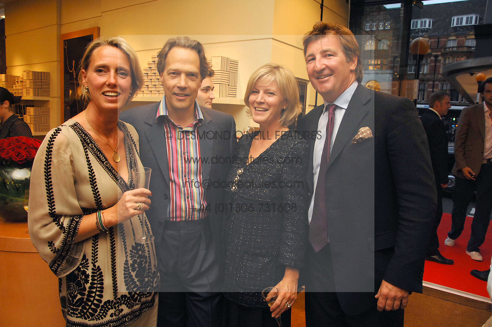 Left to right, ANNOUSHKA AYTON, the EARL & COUNTESS OF MARCH and JOHN AYTON a party hosted by Links of London to celebrate the forthcoming Glorious Goodwood racing event held at links, Sloane Square, London on 25th July 2007.<br /><br />NON EXCLUSIVE - WORLD RIGHTS