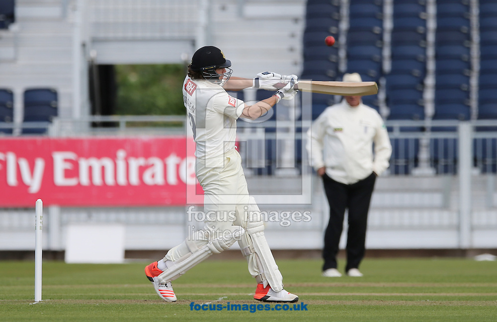 Matthew Hobden of Sussex County Cricket Club batting during the LV County Championship Div One match at Emirates Durham ICG, Chester-le-Street<br /> Picture by Simon Moore/Focus Images Ltd 07807 671782<br /> 26/04/2015