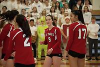 St Paul's School varsity volleyball.  ©2018 Karen Bobotas Photographer