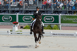 Philippa Johnson Dwyer, (RSA), Verdi - Freestyle Test Grade IV Para Dressage - Alltech FEI World Equestrian Games™ 2014 - Normandy, France.<br /> © Hippo Foto Team - Leanjo de Koster<br /> 25/06/14