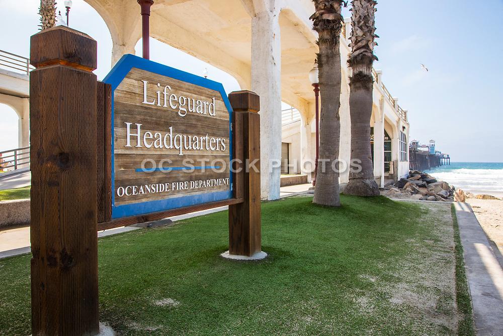 Oceanside Lifeguard Headquarters Signage