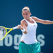 August 25, 2016, New Haven, Connecticut: <br /> Roberta Vinci of Italy in action during a match against Johanna Larsson of Sweden on Day 7 of the 2016 Connecticut Open at the Yale University Tennis Center on Thursday, August  25, 2016 in New Haven, Connecticut. <br /> (Photo by Billie Weiss/Connecticut Open)