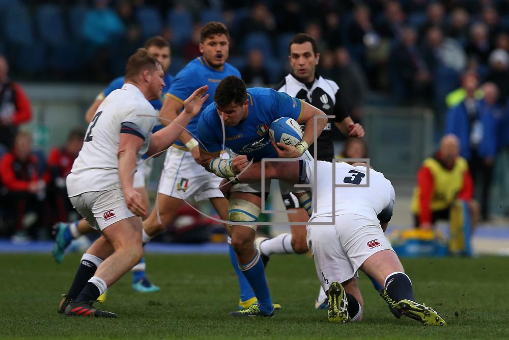 Roma 04/02/2018 Stadio Olimpico<br /> Natwest 6 nations Italia vs Inghilterra<br /> Sebastian Negri Da Oleggio