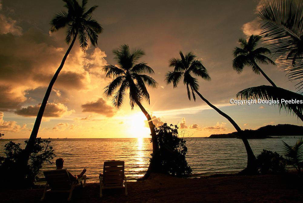 Sunset, Malololailai Island, Fiji<br />