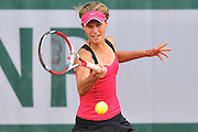 Katarzyna Piter from Poland competes in women's doubles first round while Day Fourth during Roland Garros 2014 at Roland Garros Tennis Club in Paris, France.<br /> <br /> France, Paris, May 28, 2014<br /> <br /> Picture also available in RAW (NEF) or TIFF format on special request.<br /> <br /> For editorial use only. Any commercial or promotional use requires permission.<br /> <br /> Mandatory credit:<br /> Photo by &copy; Adam Nurkiewicz / Mediasport