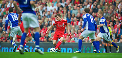 LIVERPOOL, ENGLAND - Saturday, April 23, 2011: Liverpool's Jack Robinson makes his full home debut during the Premiership match against Birmingham City at Anfield. (Photo by David Rawcliffe/Propaganda)